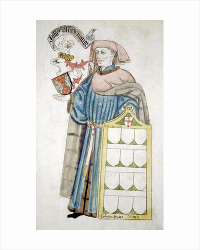 John Olney, Lord Mayor of London 1446-1447, in aldermanic robes by Roger Leigh