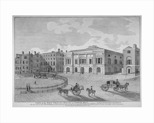 View of Trinity House from Trinity Square, City of London by Anonymous