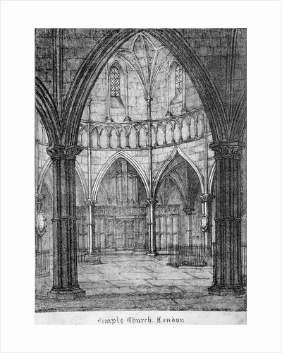 Interior view of Temple Church, looking towards the organ, City of London by Anonymous