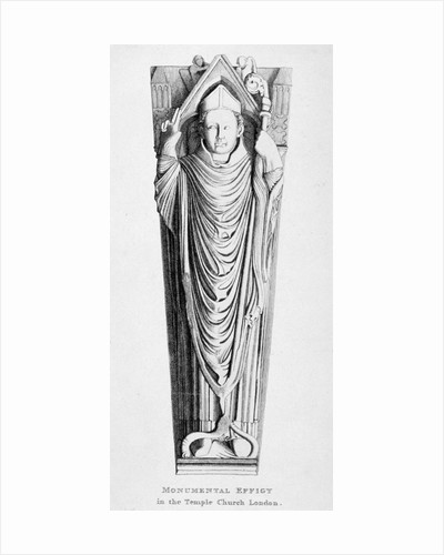 Effigy of a bishop, Temple Church, City of London by Anonymous