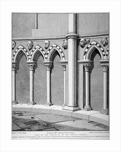 Part of the vestibule of the Temple Church, City of London by John Boydell