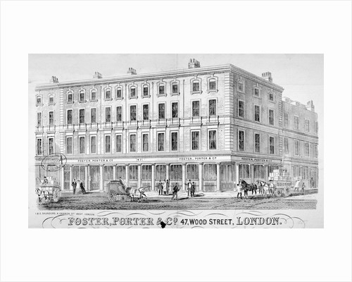 Premises of Foster, Porter & Co, no 47, Wood Street, City of London by Underwood & Underwood