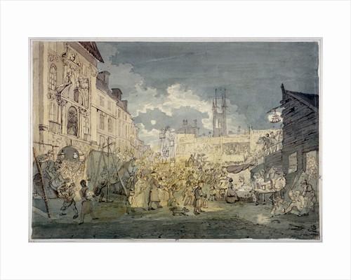 Bartholomew Fair, West Smithfield, City of London by John Nixon