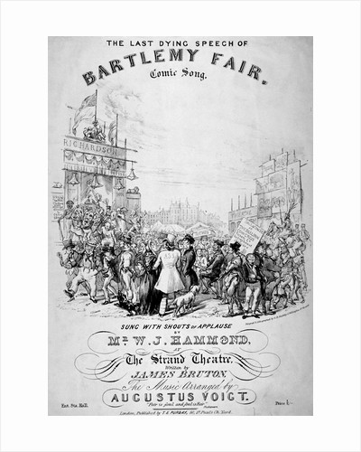 The last dying speech of Bartlemy Fair by GE Madeley