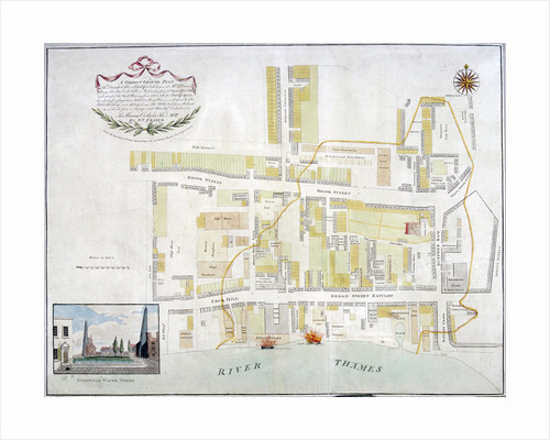 Plan of the fire that took place at Ratcliff in Stepney, London, in 1794 by Anonymous