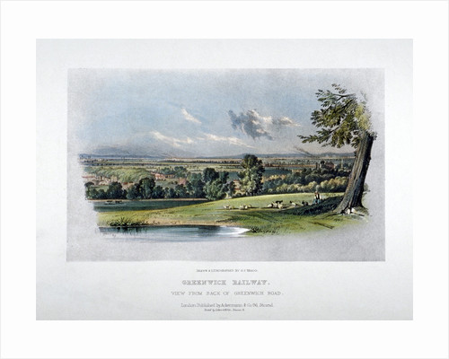 View of the London and Greenwich Railway from the  back of Greenwich Road by James Duffield Harding