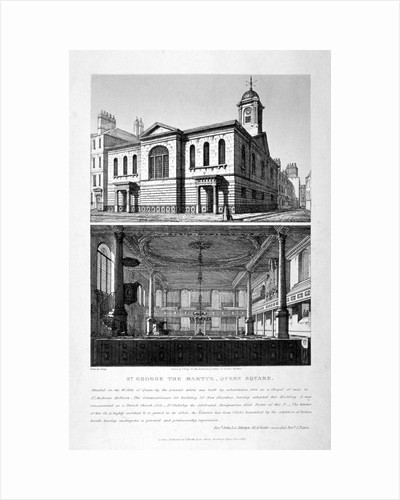 Church of St George the Martyr, Queen Street, Holborn, London by John Coney