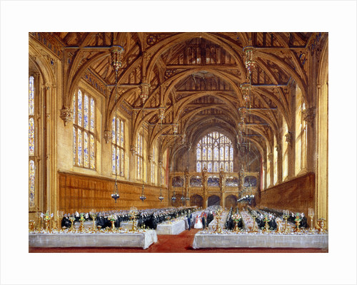Opening of the new hall at Lincoln's Inn, Holborn, London, 30th October 1845 by Augustus Charles Pugin