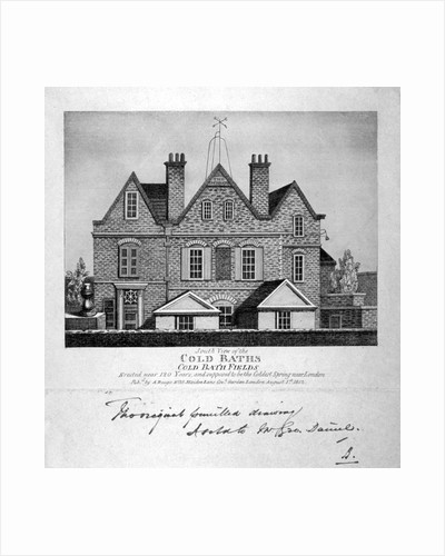 South view of the Cold Baths, Cold Bath Fields, Finsbury, London by Anonymous
