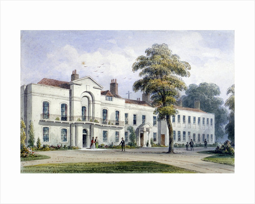 View of Brompton Lodge, Kensington, London by Thomas Hosmer Shepherd