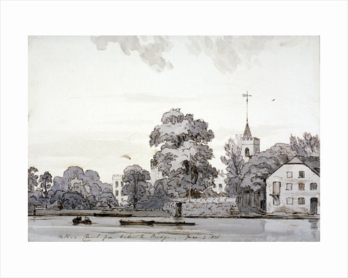 View of All Saints Church, Fulham, London by Andrew Picken