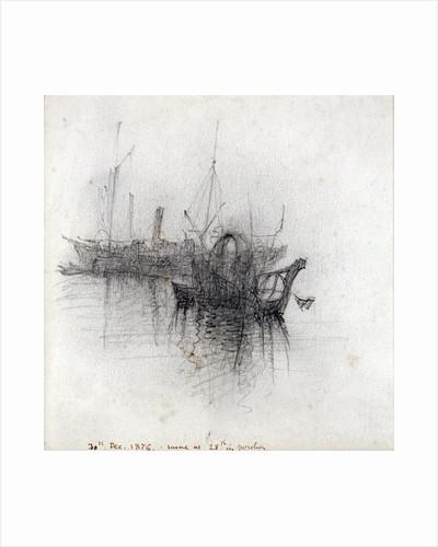 Study of Shipping by John Ruskin