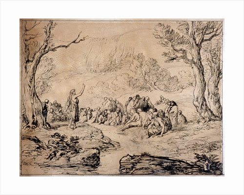 St John Preaching in the Wilderness by Sir John Gilbert