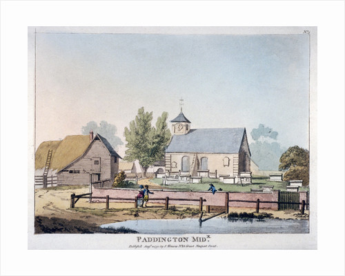 View of St Mary's Church, Paddington, London by Anonymous