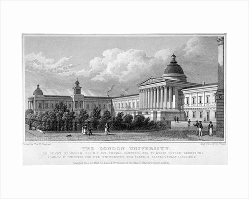 University College, Gower Street, London by W Wallis