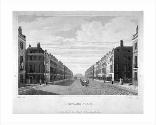 Portland Place, Marylebone, London by William James Bennett