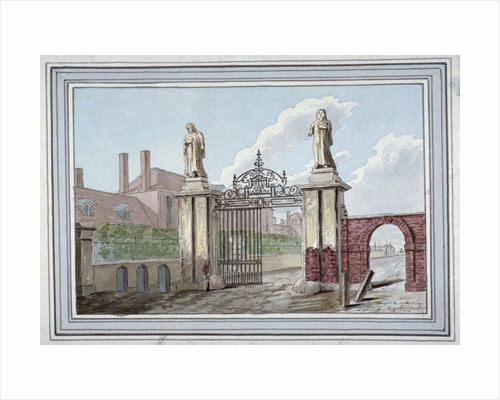Entrance to the Haberdashers' Almshouses in Pitfield Street, Shoreditch, London by G Yates