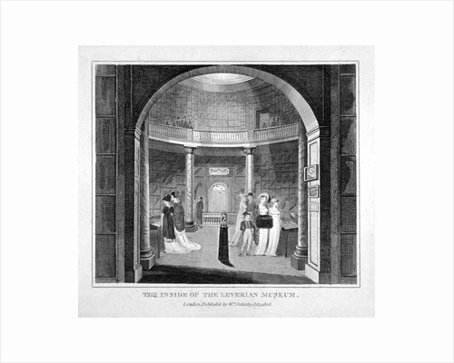 Interior view of the Leverian Museum, Albion Place, Southwark, London by Anonymous