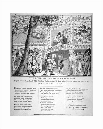 Musical performance at Vauxhall Gardens, Lambeth, London by Isaac Robert Cruikshank