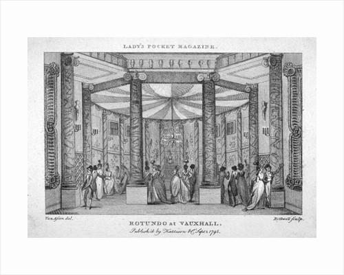 Interior view of the Rotunda at Vauxhall Gardens, Lambeth, London by Thomas Rothwell