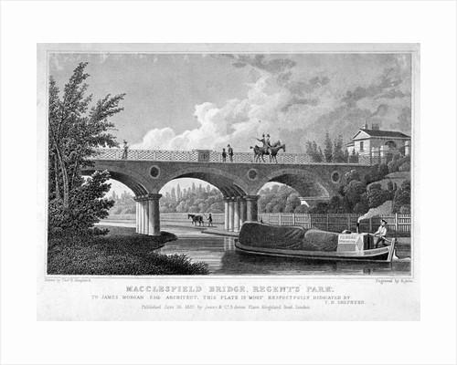 Macclesfield Bridge, Regent's Park, Marylebone, London by R Acon