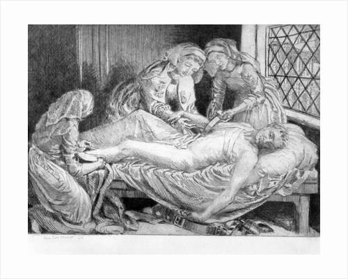 Three Nurses tending a Wounded Soldier by Anna Lea Merritt