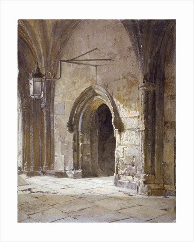Entrance to the cloisters from Dean's Court, Westminster Abbey, London by John Crowther