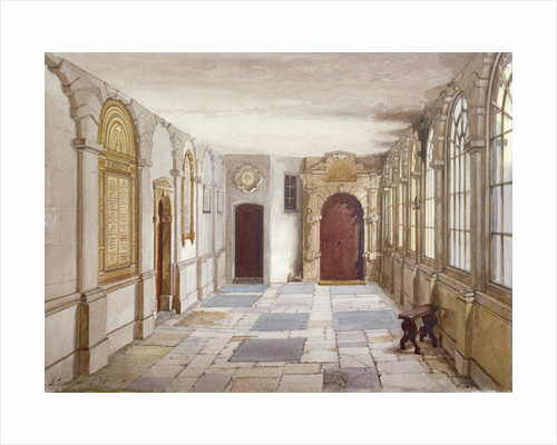 Passage leading to the chapel, Charterhouse, London by John Crowther