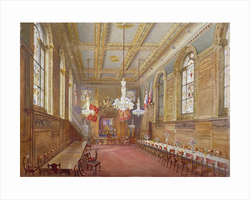 Interior of the Vintners' Hall, Upper Thames Street, London by John Crowther