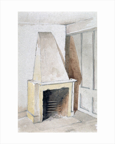 Fireplace in one of the top rooms, no 21 Austin Friars Street, City of London by John Crowther