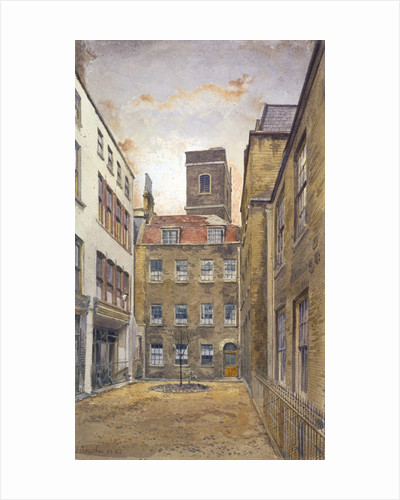 Tower of the Church of St Matthew, Friday Street as seen from Fountain Court, London by John Crowther