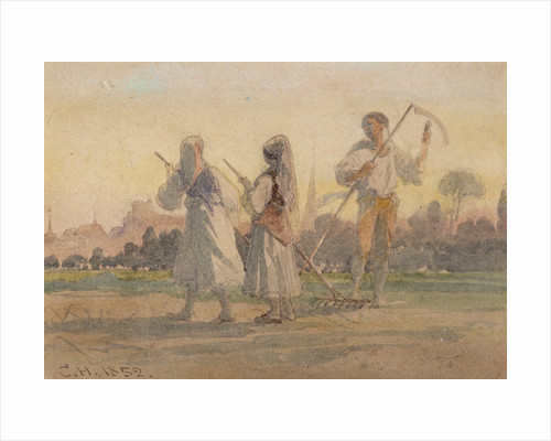 Franconian Peasants near Wurzburg by Anonymous
