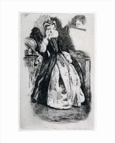 Lady in Elizabethan Dress by English School