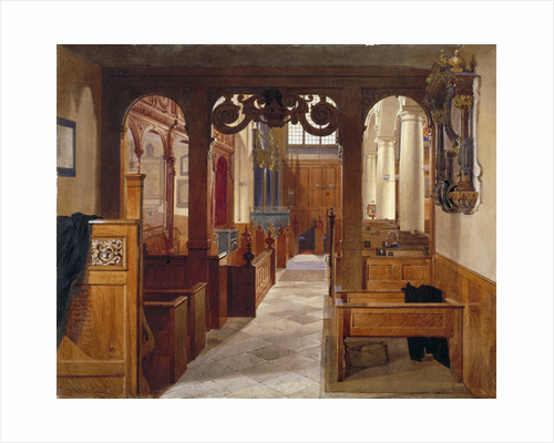 Interior of Charterhouse Chapel, London by John Crowther