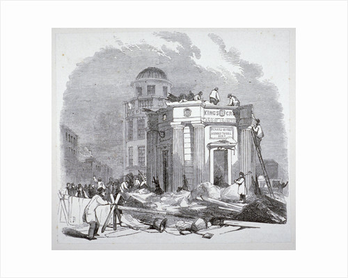 Demolition of the monument to George IV, King's Cross, London by Anonymous
