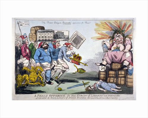 A Peace Offering to the Genius of Liberty and Equality by Isaac Cruikshank