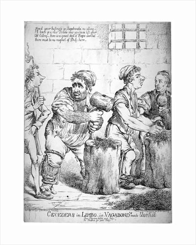 Ceceders in Limbo - ie - vagabond's made usefull ... by Isaac Cruikshank