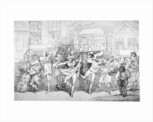 Ragged musicians and dancers by Thomas Rowlandson