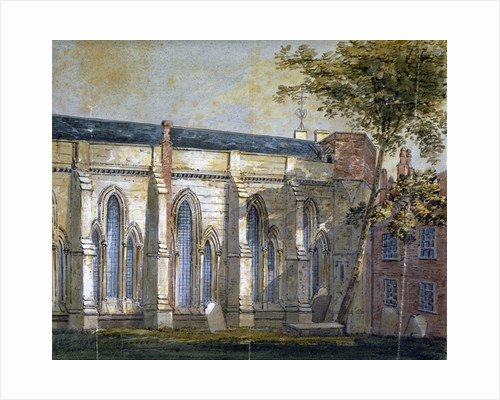 View of Temple Church, London by George Shepherd