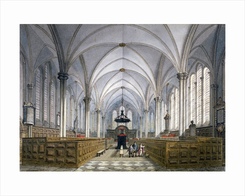 Interior view of Temple Church, London by Anonymous