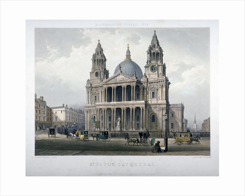 St Paul's Cathedral, City of London by Thomas Malton II