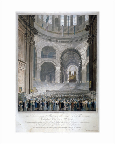 Anniversary meeting of the charity children in St Paul's Cathedral, City of London by William Henry Pyne