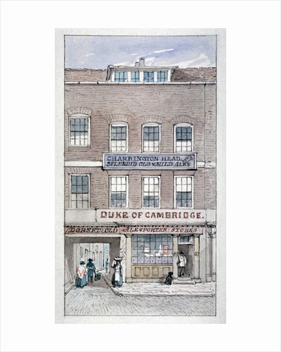 View of the Duke of Cambridge Tavern, Shoe Lane, City of London by James Findlay
