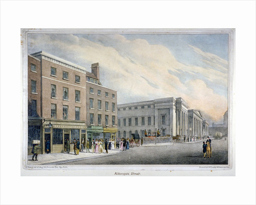 Aldersgate Street, City of London by Nathaniel Whittock