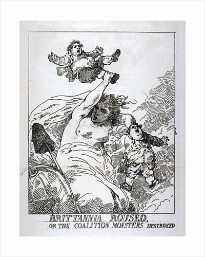 Brittannia roused or the Coalition Monsters Destroyed by Thomas Rowlandson