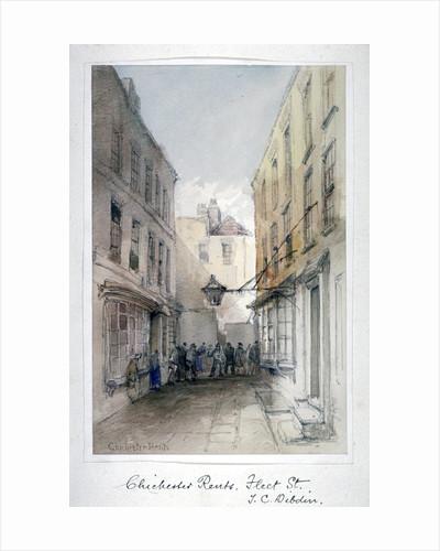 View in Chichester Rents, Fleet Street, City of London by Thomas Colman Dibdin