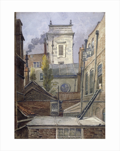 The tower of the Church of St George Botolph Lane, City of London by George Shepheard