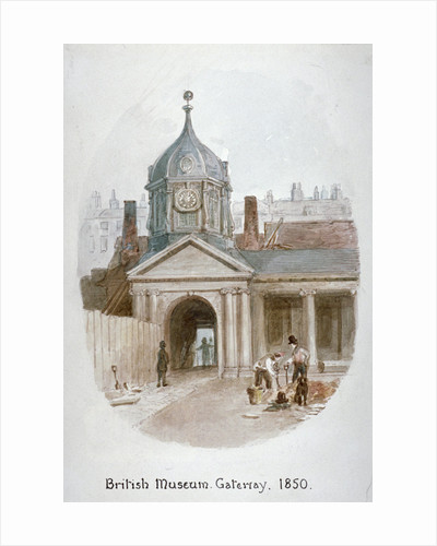 Gateway to the old British Museum (Montague House), Bloomsbury, London by James Findlay