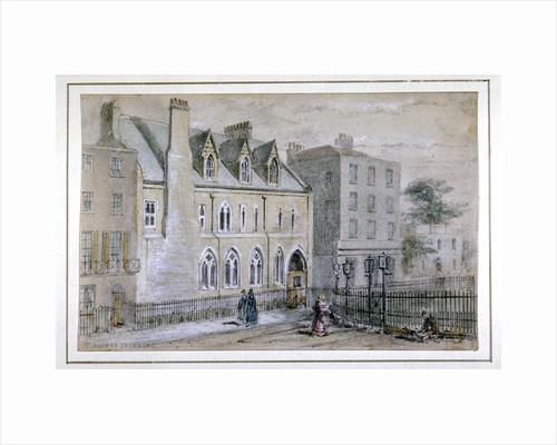 View of a nunnery in Osnaburgh Street, London by Thomas Hosmer Shepherd