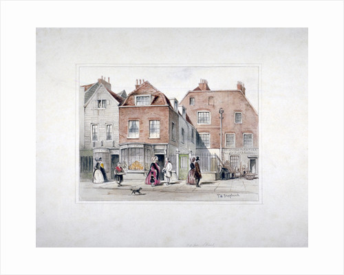 Mr Upcott's House and figures on Upper Street, Islington, London by Thomas Hosmer Shepherd